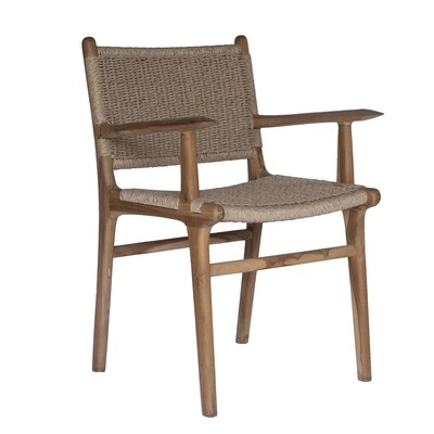 Teak and Viro Rope Dining Chair 7