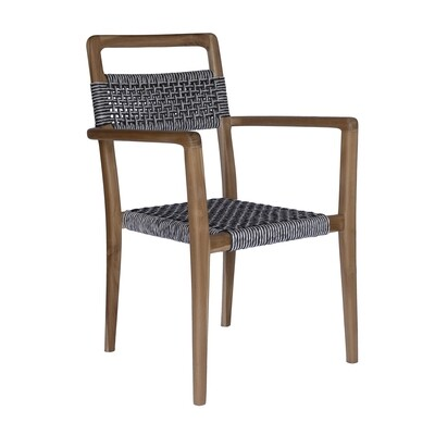 Teak and Viro Rope Dining Chair 8