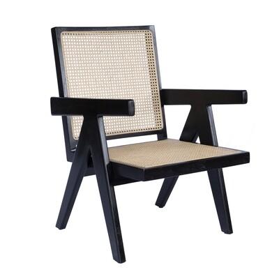 Teak Occasional Chair 3 (Black)