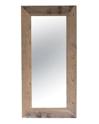 Antique Wood Mirror 1