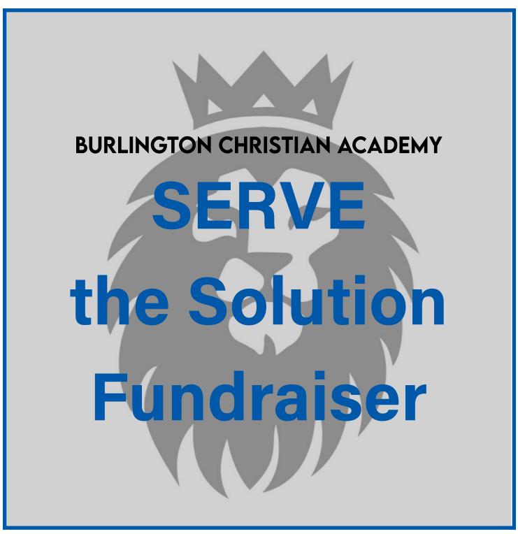 Serve the Solution/ 2021 Spring Fundraiser