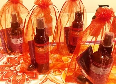Chakra bag with Aromatherapy Body Oil and Crystal