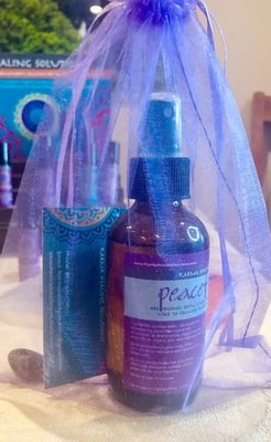 Chakra bag with Aromatherapy Spray and Crystal