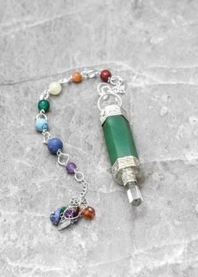Crystal Wand Chakra  Pendulum