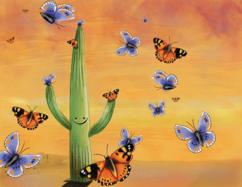 "8.5 x 11 framable print ""Butterfly Armada"""