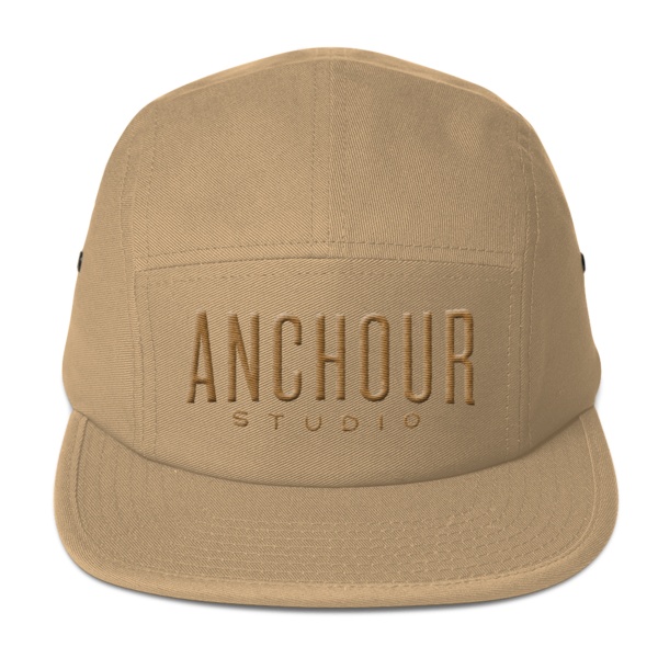Old Gold on Tan Five Panel Cap