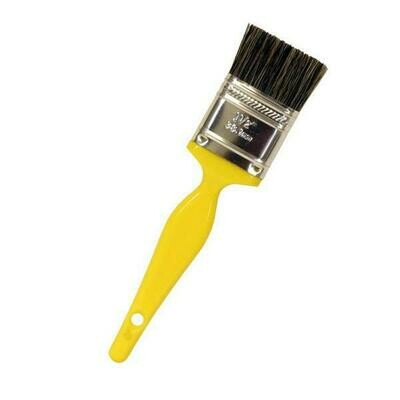 """7"""" Paint Brush Style Detail Brush w/ 1"""" Double-Thick Gray Bristle"""