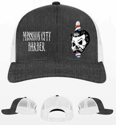New -- Mission City Barber - Heather Trucker Hat