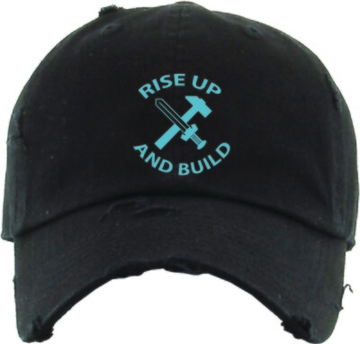 Rise Up & Build - The Well - Unisex - Distressed Dad Hat