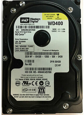 5H329 | Western Digital 40GB SATA Hard Disk Drive | 05H329
