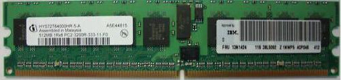 73P3522 |  IBM 1GB(2x512MB) PC2-3200R Ram | 13N1424