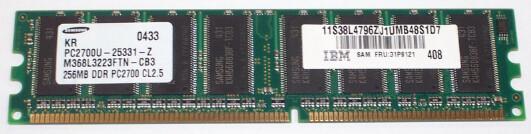 31P8855 | IBM 256MB PC-2700U Ram | 31P9121