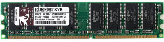 KVR400X64C3A/512 | Kingston 512MB PC-3200 Ram