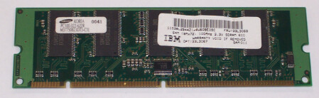 33L3067 | 33L3068 | IBM 64MB PC100 Memory Module