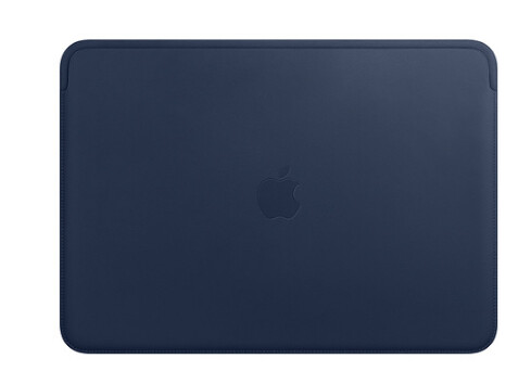 "Leather Sleeve for 13"" MacBook Air & MacBook Pro-Midnight Blue 