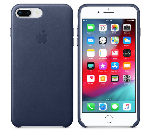 iPhone 8 Plus / 7 Plus Leather Case - Midnight Blue | MQHL2ZM/A