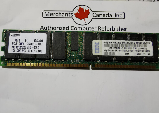 IBM 1GB PC2100 Memory Module | 33L5039 | 09N4308