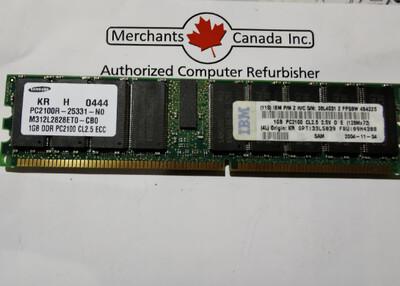 IBM 1GB PC2100 Memory Module | 33L5039 | 09N4308