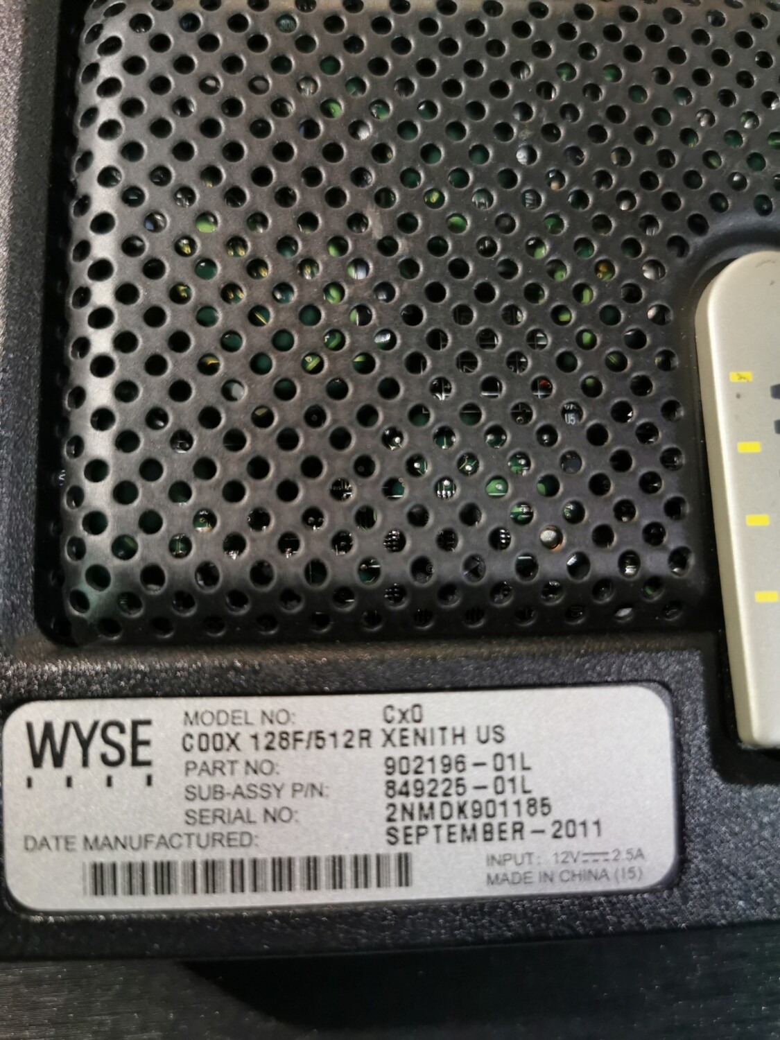 902196-01L | WYSE THIN CLIENT 128F/512R XENITH US | 849225-01L