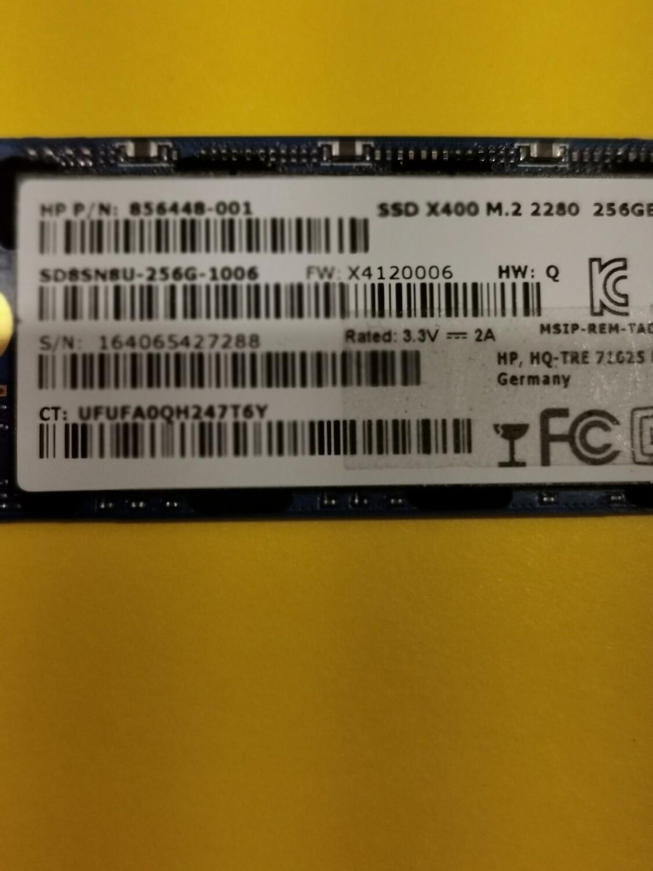 856448-001 | HP M.2 2280 256GB SSD