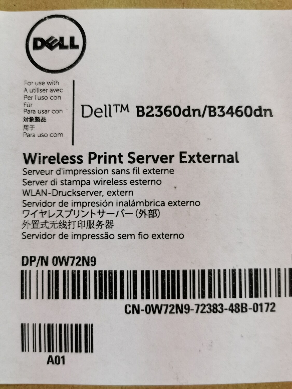 Dell Wireless Print Server External | 0W72N9 | W72N9