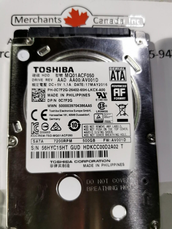 0C7F2G   C7F2G   Dell 500GB 2.5