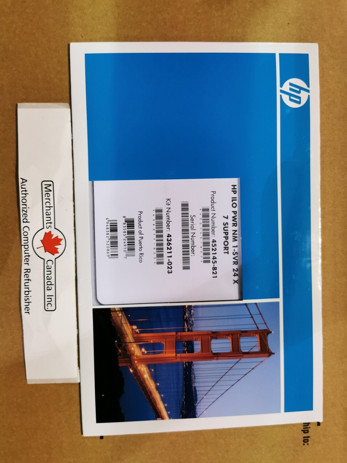452145-B21 | Factory Sealed HP Software iLO Power Management Pack No Media | 1 Server, 1 year 24x7 Support License | 436211-023