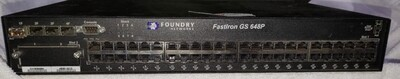 Foundry Networks FastIron GS 648P | 48 Port POE Gigabit Managed Switch | Dual Power Supply