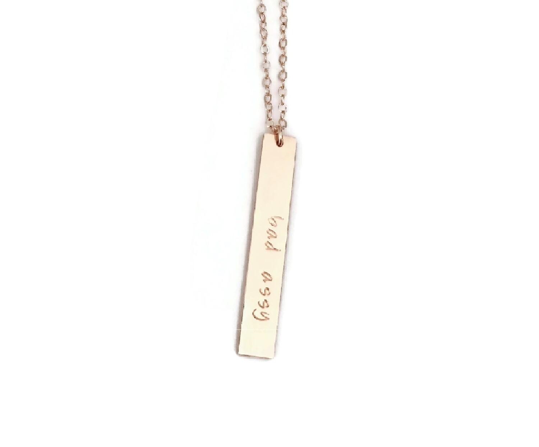 Empower Drop Bar Necklace