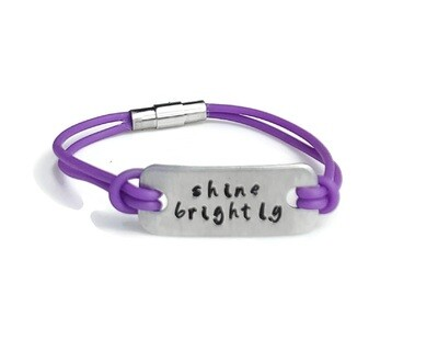 Inspirational Rubber Bracelet with Magnetic Clasp