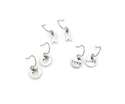 Love and Awareness Earrings with Interchangeable Pendants
