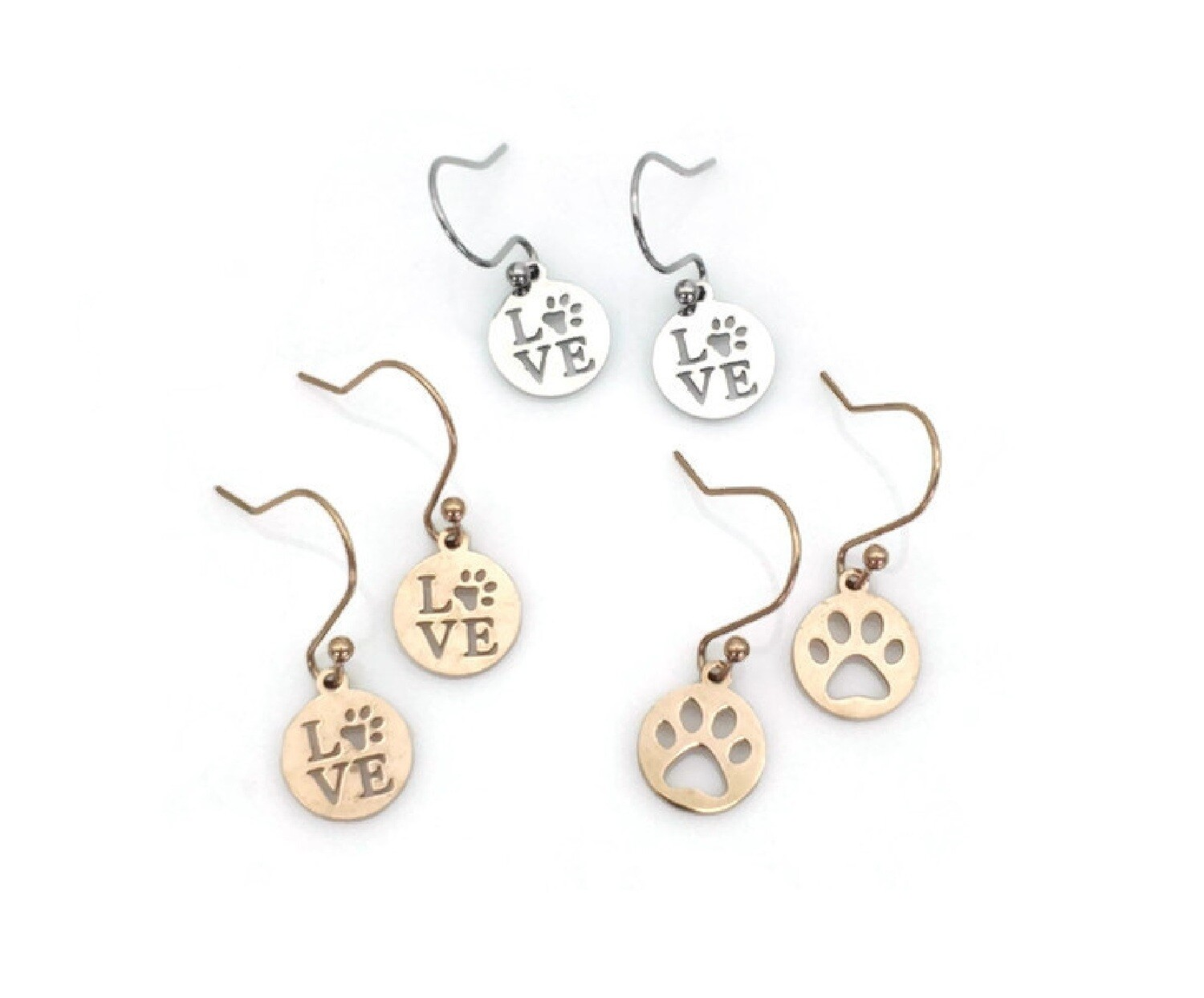 Animal Love Earrings with Interchangeable Pendants