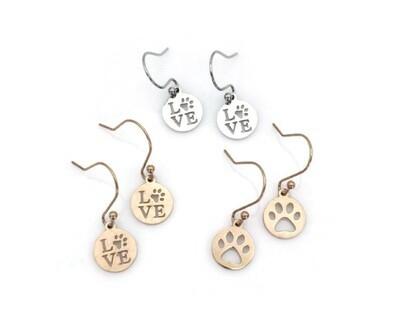 Animal Love Earrings with Interchangeable Pendants