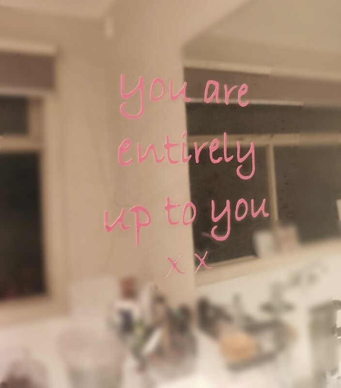 You are entirely up to you xx                                  Mirror Affirmation Decals