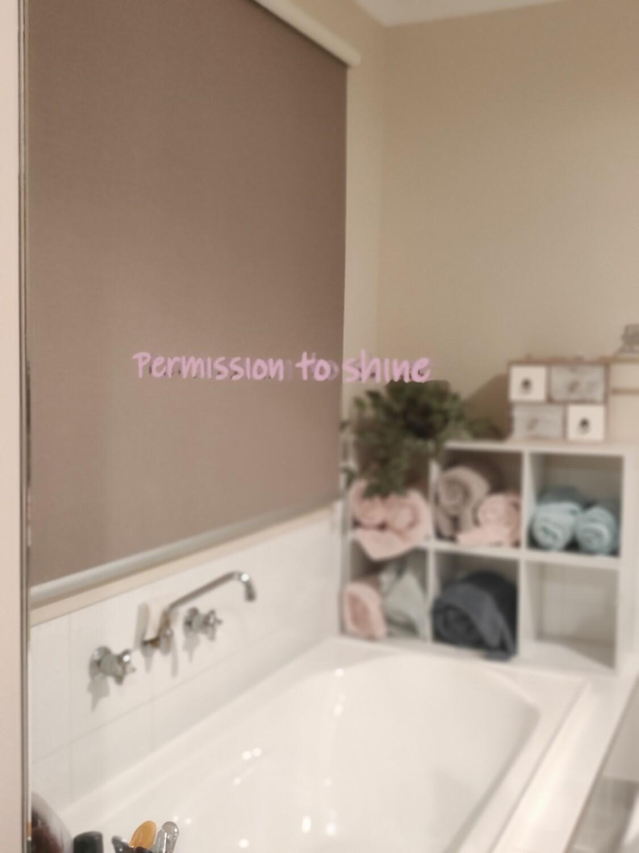 Permission to shine                                                 Mirror Affirmation Decals