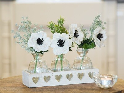 Anemones, Eucalyptus seed and Thyme pick in White Tray