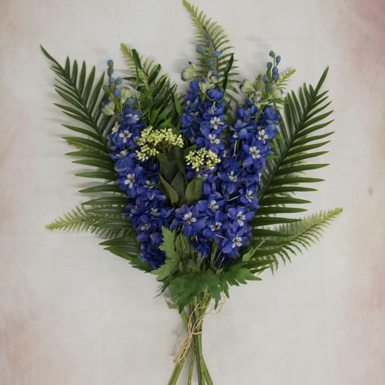 Delphinium & Foliage Bouquet