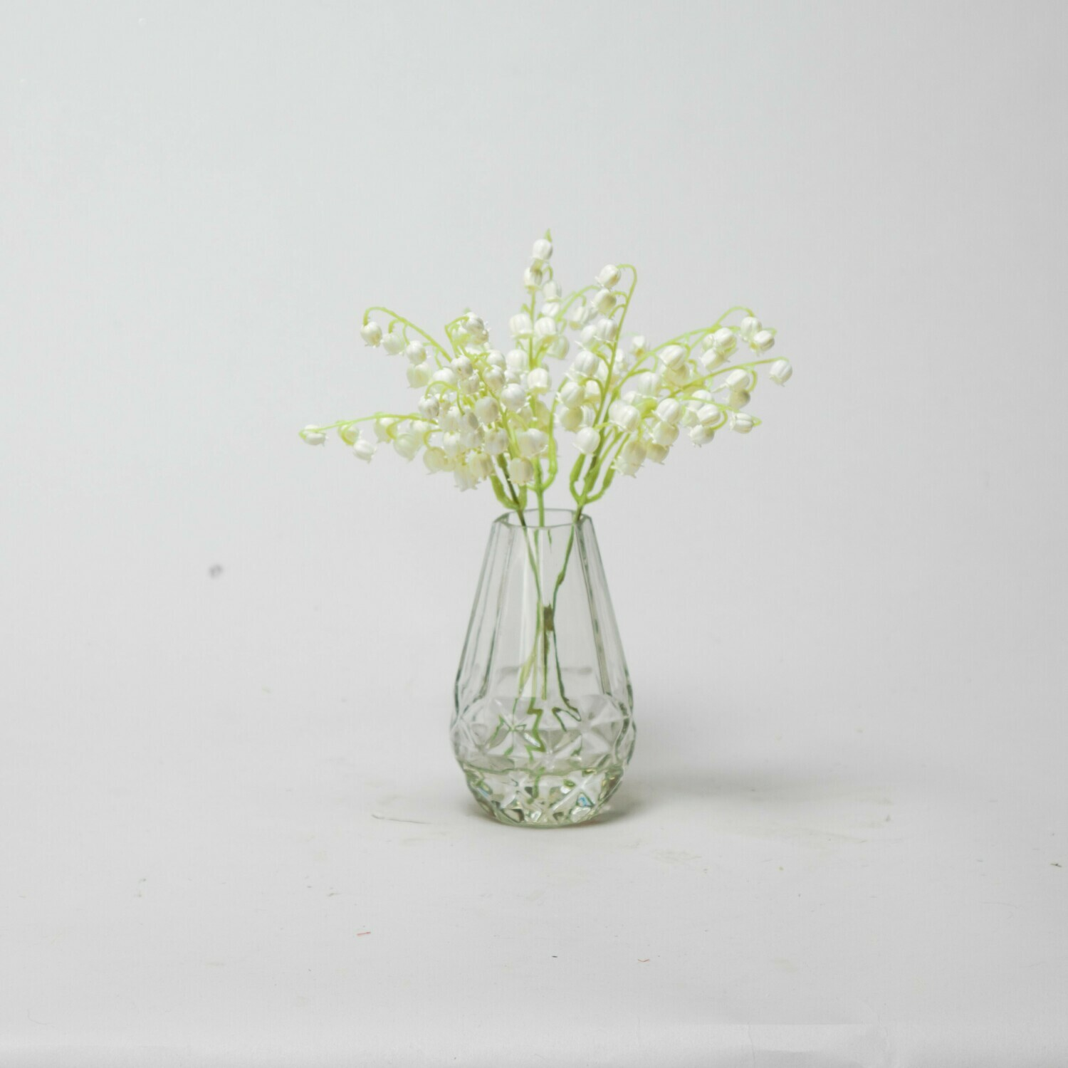 Lily of the Valley in a cut glass bud vase