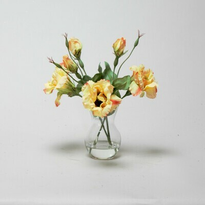 Yellow Lisianthus in a Pristina vase