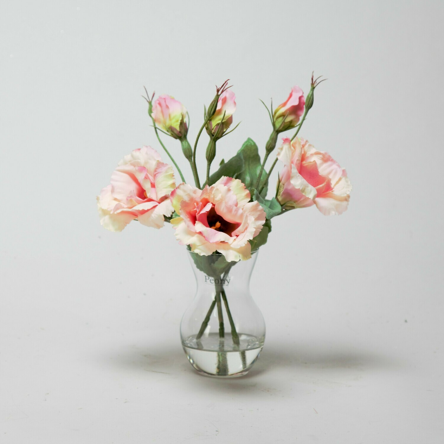 Pink Lisianthus in a Pristina vase