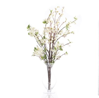 Blossom in Footed Hourglass Vase