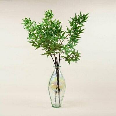 Maple Leaves in Recycled Lustre Vase