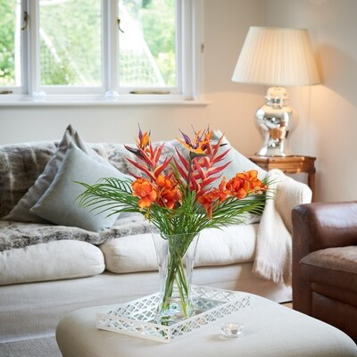 Tropical Mix in Twisted Square Vase