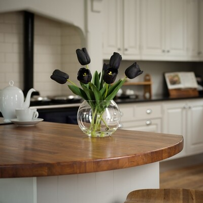 Tulips in Rounded Bowl