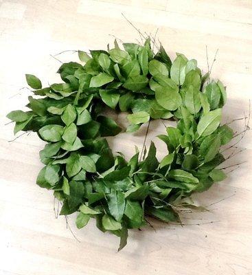 Lemon Leaves Wreath - Green