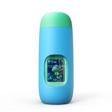 Blue Gululu Interactive water bottle and Health tracker for kids