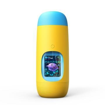 Yellow Gululu Interactive water bottle and Health tracker for kids