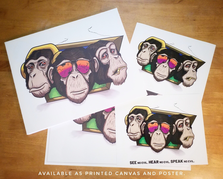3 Clever Chimps (Hear, See, Speak No Evil)