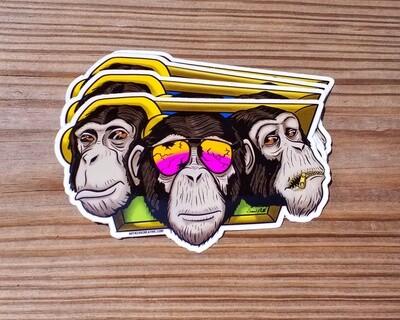 3 Clever Chimps: Sticker