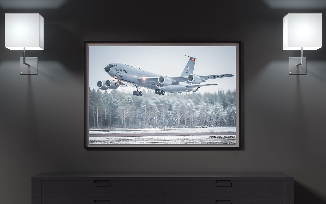 134th ARW, KC135 in Sweden   CANVAS PHOTO